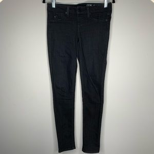 Kenneth Cole Black Super Skinny Pull On Jeans XS